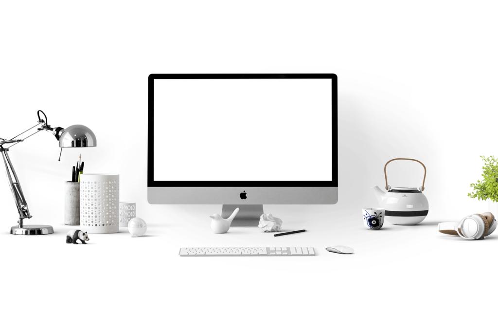 Apple escritorio ordenado